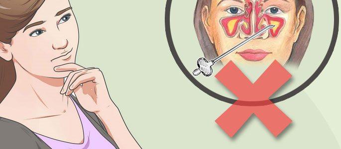 Беспункционное лечение гайморита