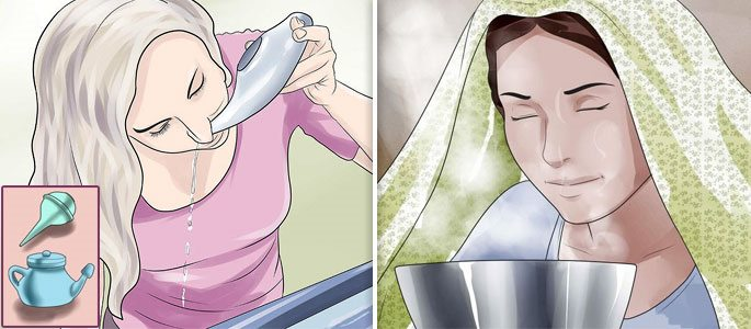 Промывание и ингаляции в домашних условиях