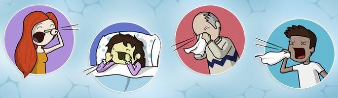 Простуженные чихают, сморкаются и кашляют