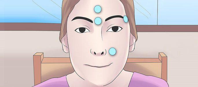 Точечный массаж лица для профилактики гайморита