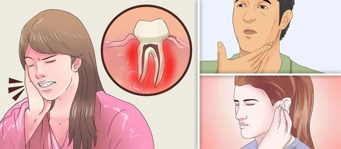 Зубные боли, болезненные ощущения в ушах и воспаление горла