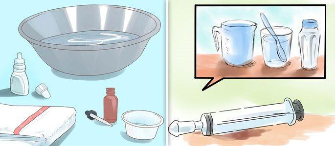 Процедуры домашнего типа и в медучреждении, приём капель и спреев