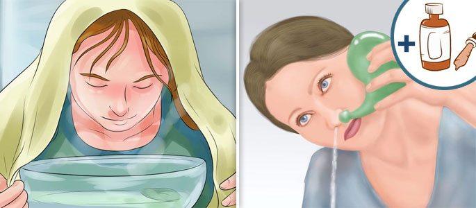 Назальные капли-масло, промывание и ингаляции