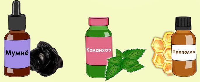 Приготовленные или аптечные капли из прополиса, каланхоэ и мумиё