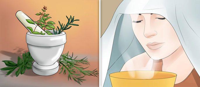 Лечение травами путём проведения ингаляций и промываний отварами