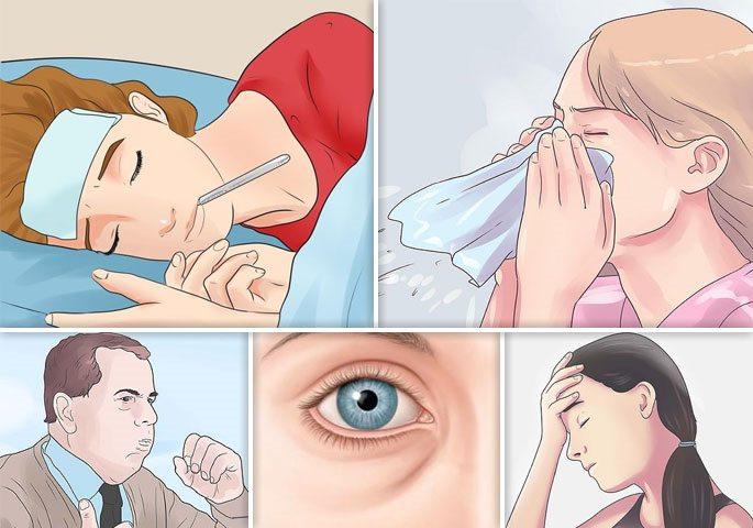 Характерные симптомы при синусите верхнечелюстных и других пазух