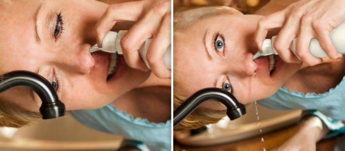 Польза от применения препаратов Аквалор и Аквамарис при гайморите