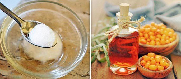 Рецепт из соды и облепихового масла