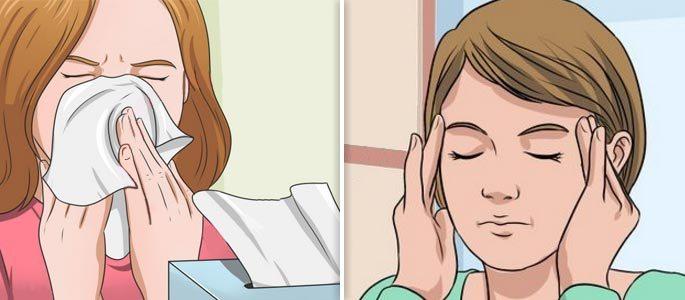 Отделяемое из носа и головная боль