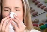 Приём антибиотиков при насморке