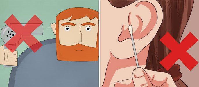 Что делать если в ухо попала вода и не выходит, методы удаления