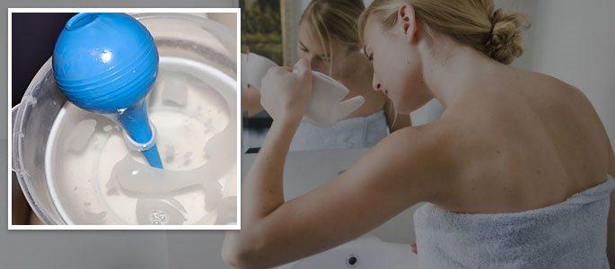Промывание носовой полости специальными растворами