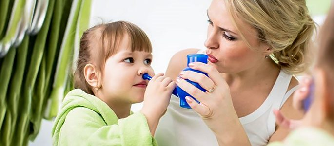 Очищение детского носика от слизи