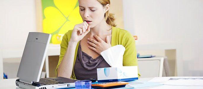 Болезненность в горле (некротическая форма воспаления)